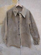 ancienne veste homme grosse toile marron / / B 338