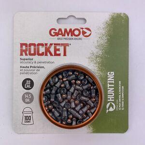 GAMO ROCKET Pellets .22 cal 100ct Tin Steel Tip High Performance Hunting/Target