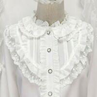Gothic Strech Rüschen Bluse Spitze Viktorianisch Edwardian Belle Epoque Lolita