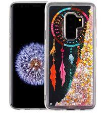 SAMSUNG GALAXY S9+ PLUS - TPU Case Waterfall Liquid Pink Glitter Dreamcatcher