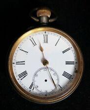 Beautiful Antique Metalic Case Pocket Watch by Acier Garanti (Diameter - 4.5 cm)