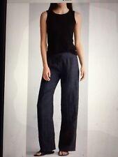 $268 NWT Eileen Fisher Mashine Wash Blue Linen  Pants Sz M Elastic Waist 2 Poc