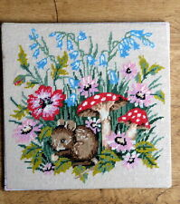 completed wool needlepoint tapestry picture / canvas