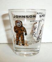NASA Shot Glass Johnson Space Center Souvenir Novelty Houston Texas Astronaut