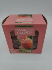 YANKEE CANDLE ~ PACK OF 12 SCENTED  TEA LIGHTS ~ SUN DRENCHED APRICOT ROSE