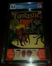 Marvel Comics CGC 3.5 Fantastic Four 11 1st Impossible Man Tape On Cover
