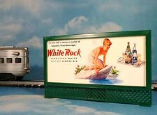 WHITE ROCK GIRL * MODEL RAILROAD LIGHTED BILLBOARD AD for A/F & LIONEL O TRAINS