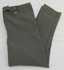 LADIES MARKS AND SPENCER BLACK CHECK ANKLE GRAZER SLIM TROUSERS SIZE 18