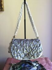 Twiggy LONDON Embellished Velvet Bag with Chain Strap Gray NEW Evening Bag