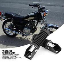 Silver Motorcycle Rear Foot Peg Footrest Footpegs for Suzuki 125cc GN 125
