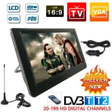 Freeview 1080P HD Portable Digital TV 12V For DVB-T2 14 inch Player UK