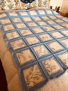 Patchwork-Fusion Crochet Quilt, Handmade,Breathtaking Looks & Quality 156x156cms