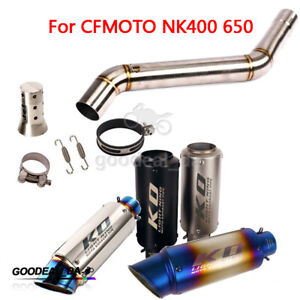 51mm Exhaust Muffler Tip Connect Middle Link Pipe Slip On for CFMOTO 400NK 650NK