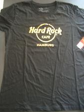 HRC Hard Rock Cafe Hamburg Black Gold Logo Tee Shirt Size XL NWT Girls