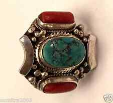 925 Sterling Silver Tibetan Style Handmade  Ring in Nepal Size 8.5