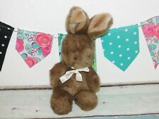 "Applause Butterball Bunny Rabbit Brown Bow Plush Stuffed Toy 12"" Vintage 5360"