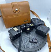 Pentax Auto-110 SLR System Camera 110mm film +Pentax-110 1:2.8 18mm + Case ++++