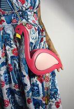 Sac à main original flamant rose pattes mobiles flamingo pinup rétro vintage