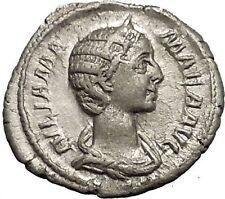 JULIA MAMAEA Severus Alexander Wife VESTA PALLADIUM Silver Roman Coin i52123