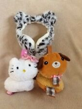 Set Of 3 Hello Kitty/Leopard & Cat Girls Earmuffs (2-Day Sale)