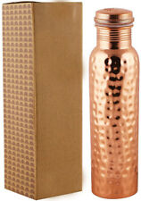 handmade hammered copper serving water bottle ayurveda benefit drinking flask