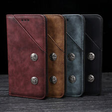 Flip Case Retro Genuine Real Leather TPU Cover Stand Magnetic For Nokia/Meizu/LG