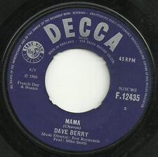 DAVE BERRY - MAMA / WALK, WALK, TALK, TALK - 1966 - 60s BRITISH POP, BEAT, ROCK