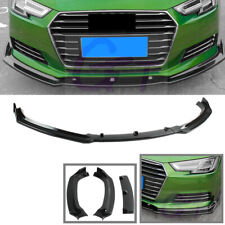 Fit For AUDI A4 Quattro B9 2017-2019 Black Front Bumper Lip Spoiler Wing 3-Stage