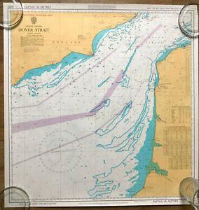 Vintage sea chart Dover Strait 1977