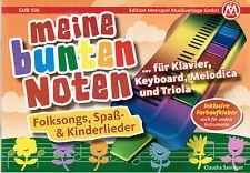 Melodica Meine bunten Noten WEIHNACHTSLIEDER leicht FARBEN Keyboard Noten
