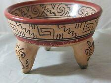 Pottery Hecho en San Vicente El Salvador Mexican Style Dip Bowl Salsa Guacamole