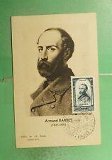 DR WHO 1948 FRANCE MUSEUM SLOGAN CANCEL BARBES MAXIMUM CARD ART PORTRAIT g19469