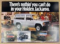 1982 Holden Jackaroo original Australian sales brochure (2P)