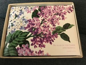 """New """"Spring Lilacs"""" Guest Book with scripture by C.R. Gibson 800 entries"""
