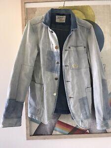 Scotch And Soda Denim Patch Blazer Jacket Size Small