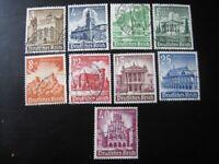 THIRD REICH Mi. #751-759 complete stamp set! CV $22.75