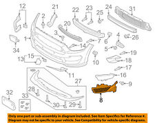 FORD OEM 15-17 Mustang Front Bumper Grille-Support Bracket Right FR3Z17C947B