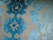 REMNANT LAURA ASHLEY RIALTO TEAL UPHOLSTERY FABRIC MATERIAL 140 CM X 80 CM