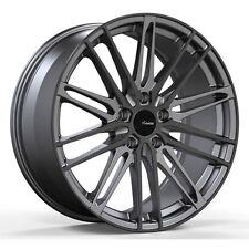 18x8 Advanti Racing Diviso 5x100MM +35 Black Wheels Fits Sti Sedan Wrx Matrix