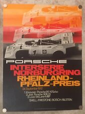 1972 Porsche 917-10 Turbo Interserie Nurburgring Victory Showroom Poster RARE