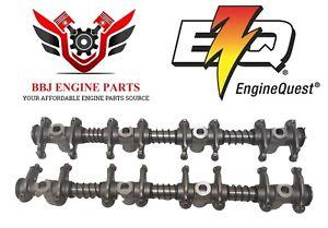 (2) New Enginequest Ford 352 360 390 Fe Rocker Arm Shaft Assemblies 1964 - 1976