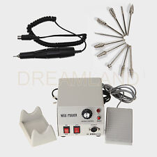 Electric Micromotor Marathon 35K RPM Polishing Handpiece Equipment + 10*Burs niP