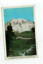 Rainier Natl Park antique post card Paradise Valley, Inn, and Mt. Rainier