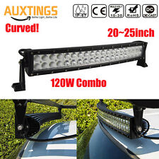 20'' Curved 120W LED Work Light Bar Combo OffRoad SUV Lamp Car Light+2pcs 18W