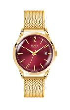 HL39-M-0062 Henry London Ladies Holborn Watch with Polished Gold Bracelet