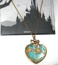 Disney Necklace✿Kingdoms Castles Little Mermaid Ariel Floating Crystals Pearl