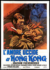 L'AMORE UCCIDE A HONG KONG MANIFESTO CINEMA SPIONAGGIO 1973 MOVIE POSTER 4F