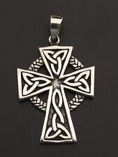 Pendentif Crucifix Croix Celtique Irlandaise entrelacs Argent 925-7.5g M9 25922