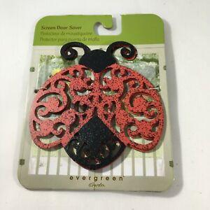 Evergreen Garden Magnetic Red Metal Ladybug Screen Saver For Doors & Windows