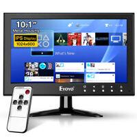 "Eyoyo 10"" IPS Monitor Dual Speakers Support HDMI/AV/VGA/USB/BNC 9-36V for CCTV"